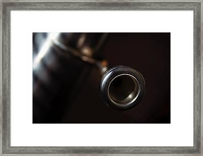 Framed Print featuring the photograph Tuba No. 4 by Chuck De La Rosa
