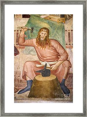 Tubal Cain Framed Print