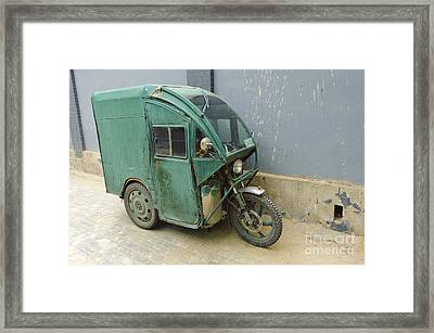 Tuk Tuk 3-wheeled Motorcycle Framed Print