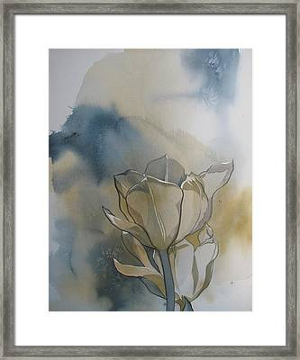 Tulip Abstraction Framed Print by Alfred Ng