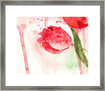 Tulip Flower Framed Print