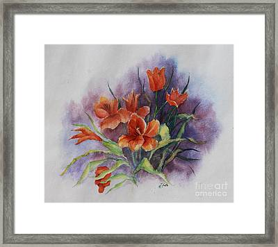 Tulips Framed Print by Janet Felts