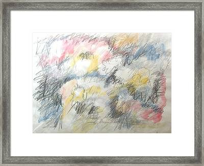 Tumult Framed Print by Esther Newman-Cohen