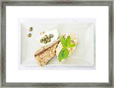 Tuna Steak Framed Print by Tom Gowanlock