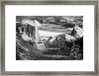Tunnel View In Yosemite Framed Print by Alexis Birkill