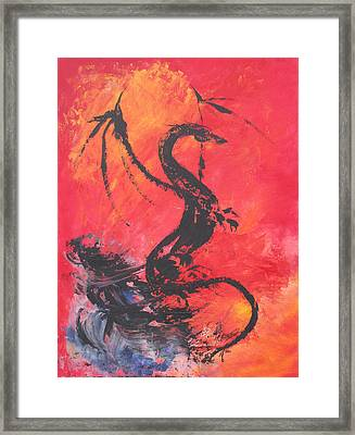 Turbulent Dragon Framed Print