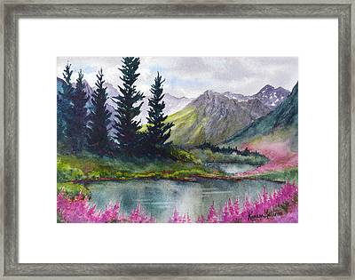 Turnagain Pass Fireweed Framed Print by Karen Mattson