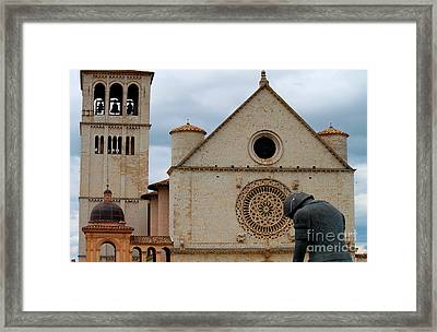 Framed Print featuring the photograph Turning Point --st. Francis Of Assisi by Theresa Ramos-DuVon