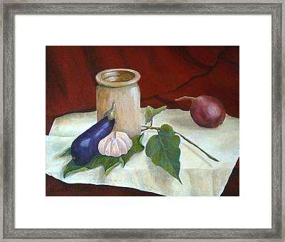 Tuscan Table Framed Print by Pamela Allegretto