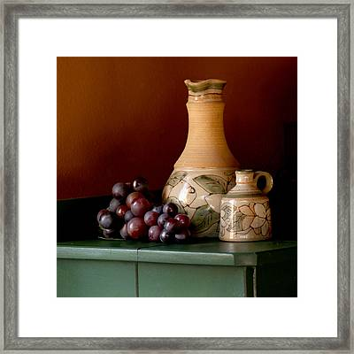 Tuscany Grapes Framed Print by Art Block Collections