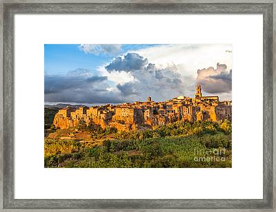 Tuscany Sunset Framed Print by JR Photography