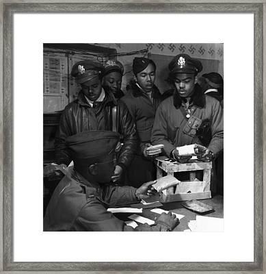 Tuskegee Airmen, 1945 Framed Print by Granger