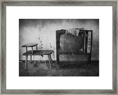 Tv Times Framed Print by Larysa  Luciw