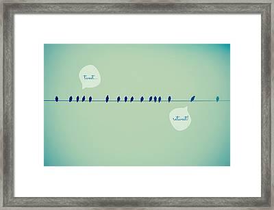 Tweeting Framed Print