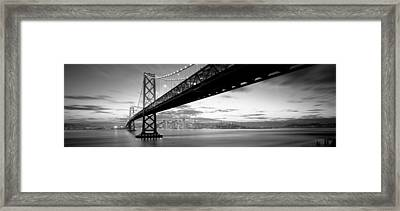 Twilight, Bay Bridge, San Francisco Framed Print