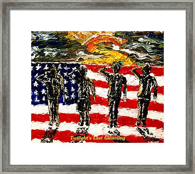 Twilights Last Gleaming Framed Print by Mark Moore