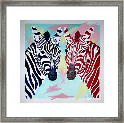 Twin Zs Framed Print by Phyllis Kaltenbach