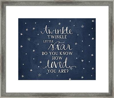 Twinkle Little Star Framed Print by Amy Cummings