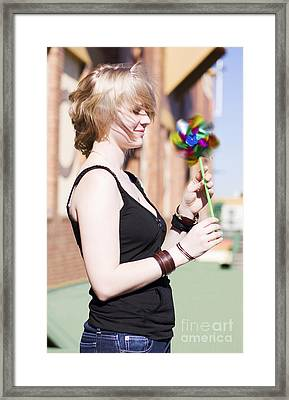 Twirling Toy Turbine Framed Print by Jorgo Photography - Wall Art Gallery