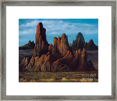 Twisted Lights Framed Print