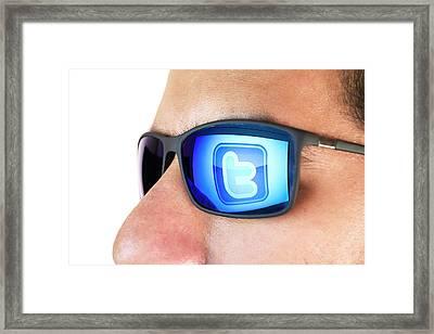Twitter Framed Print by Daniel Sambraus