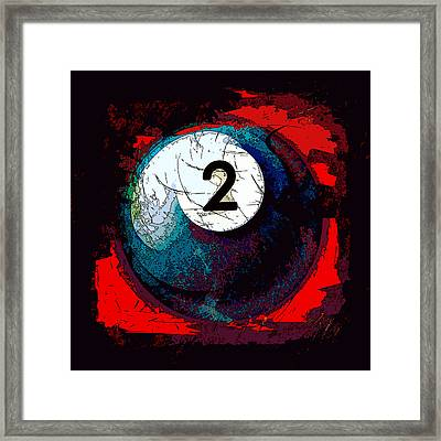 Two Ball Billiards Abstract Framed Print by David G Paul