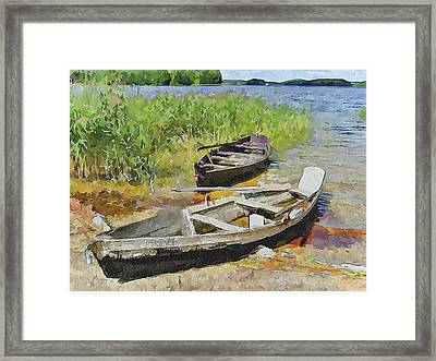 Two Boats Framed Print by Yury Malkov