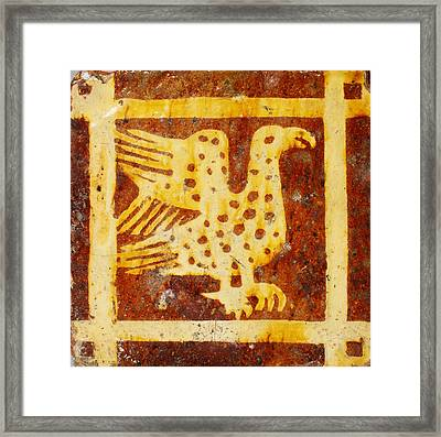 Two-colored Tile Framed Print by Celestial Images