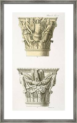 Two Column Capitals Framed Print by .