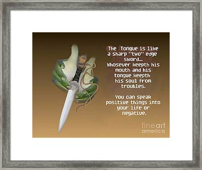 Two Edge Sword Framed Print