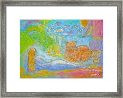 Two Felines Framed Print