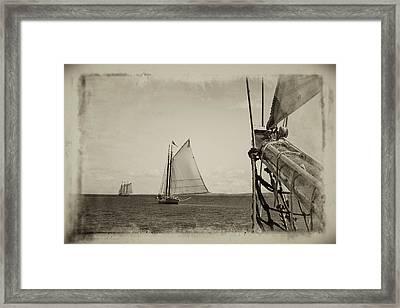 Two Schooners Framed Print