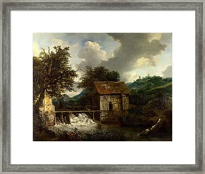 Two Watermills And An Open Sluice At Singraven Framed Print by Celestial Images