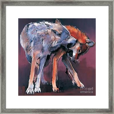 Two Wolves Framed Print