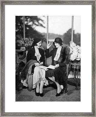 Two Women Talking Framed Print