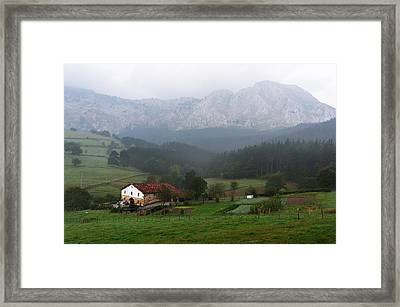 typical basque country house in Axpe Framed Print by Mikel Martinez de Osaba