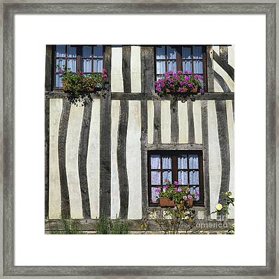 Typical House  Half-timbered In Normandy. France. Europe Framed Print
