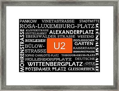 U Bahn Metro U2 Berlin Framed Print by Art Photography