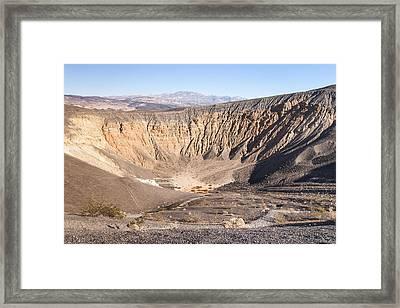 Ubehebe Crater Framed Print