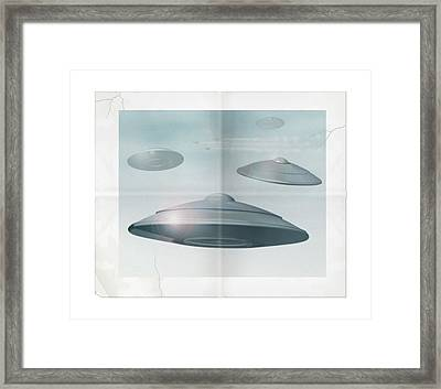 Ufo Sighting Framed Print