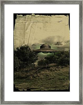 Ufos Framed Print by Victor Habbick Visions
