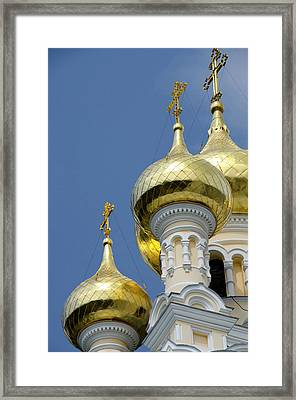 Ukraine, Yalta Exterior Of Saint Framed Print