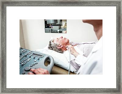 Ultrasound Examination Framed Print by Gustoimages