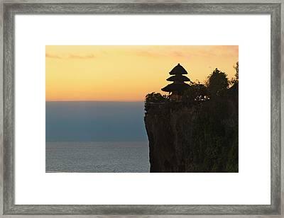 Uluwatu Temple On The Cliff, Bali Framed Print by Keren Su