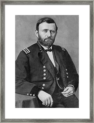 Ulysses S Grant Framed Print by American School