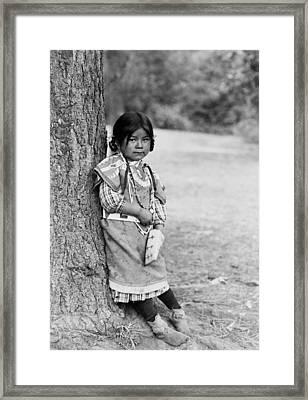 Umatilla Girl Circa 1910 Framed Print by Aged Pixel