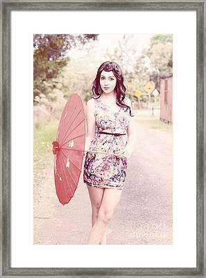 Umbrella Framed Print by Jorgo Photography - Wall Art Gallery