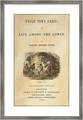 Uncle Tom's Cabin, 1852 Framed Print