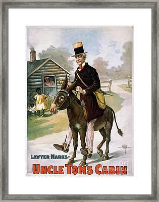Uncle Toms Cabin, C1899 Framed Print