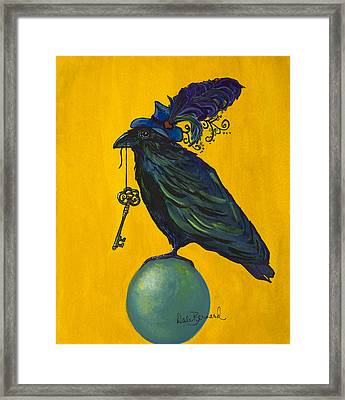 Uncommon Raven Love 2 Framed Print